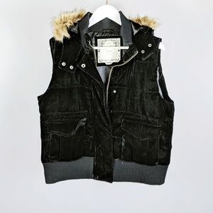Old Navy velvet hooded vest